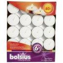 Bolsius Teelichte 40er Pack 6 Stunden Brenndauer weiß