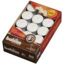 Bolsius Teelichte 30er Pack 8 Stunden Brenndauer weiß