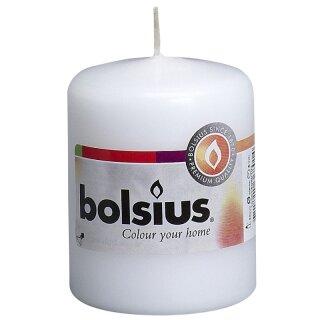 Bolsius Stumpenkerzen 80x58 mm weiß (10 Stück)