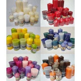 6 kg Qualität Stumpenkerzen Paket Kerzen Set Mix gemischt nach Farben