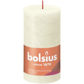 Bolsius Rustik Stumpenkerzen Shine 130x68 mm