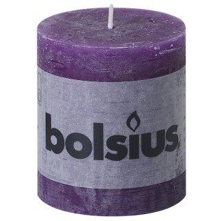 Wahl 6 Bolsius Rustik Stumpen Kerzen 80x68 mm fuchsia Bolsius Rustic Kerzen 1