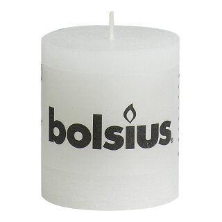 6 Bolsius Rustik Stumpen Kerzen 80x68 mm weiß Bolsius Rustic Kerzen 1. Wahl