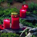 Grabkerzen Nr. 7 weiß Grabkerze Grablicht Kompo Engel Memento von Bolsius
