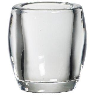6 Bolsius Teelichtgläser 77x72 mm klar Teelichthalter Glas 1. Wahl