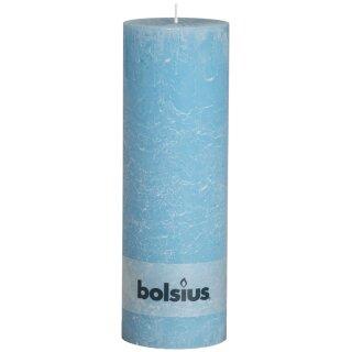 4 Bolsius Rustik Stumpen Kerzen 300x100 mm aqua Bolsius Rustic XXL Kerzen
