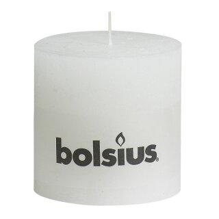 6 Bolsius Rustik Stumpen Kerzen 100x100 mm weiß Bolsius Rustic Kerzen