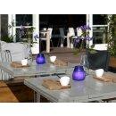 12 Glas Windlichter Twilight 104x99 mm rot Gartenlichter Kerzenglas Bolsius