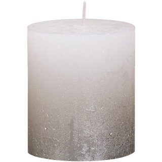 6 Bolsius Rustik Stumpen Kerzen 80x68 mm Fading Metallic verschiedene Farben
