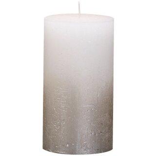 6 Bolsius Rustik Stumpen Kerzen 130x68 mm Fading Metallic verschiedene Farben