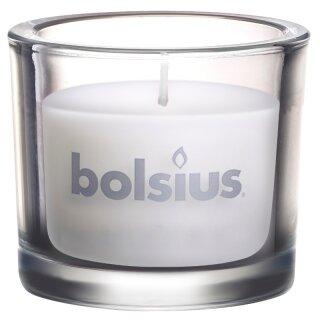 4 Bolsius Gläser gefüllt 80x92 mm Sparkling Harmony Kerzen verschiedene Farben
