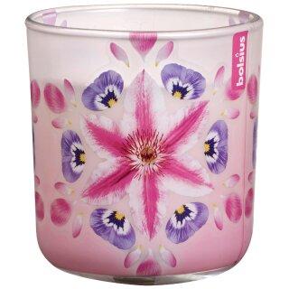 6 Duftkerzen im Glas 86x80 mm Flower Burst pink Duft Duftgläser