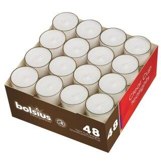 192 Teelichter im Acryl Cup ca. 8 Stunden Brenndauer Bolsius Teelichter