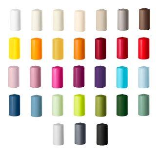 24 Stumpenkerzen 100x50 mm Safe Candle selbstverlöschend Wenzel Kerzen verschiedene Farben