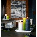 12 Bolsius Rustik Stumpen Kerzen 130x68 mm mit Flame Stop im 12er Tray