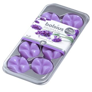 1 x Bolsius Wax Melts 8er Pack Französicher Lavendel